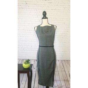 Zara Basic Gray/Black Midi Dress XL